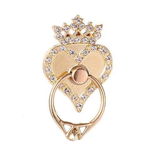 (Fanala Ring Finger Phone Holder Stand Rhinestone Heart Shape Phone Grip,rotated in 360 Degrees Stands)