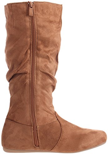 Mid Slouchy Winter Casual Dress Women's High Tan Boot Enimay Calf Flat Fashion xYIFqC5Cw