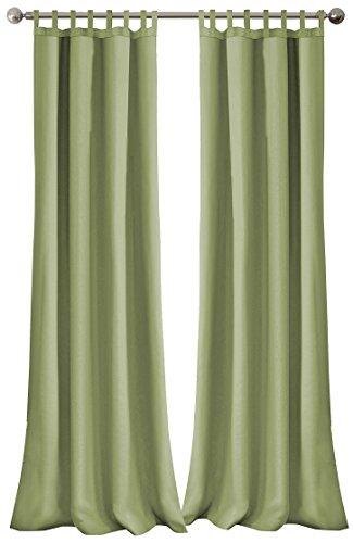 Elrene Home Fashions 026865643091 Indoor/Outdoor Solid Tab Top Single Panel Window Curtain Drape, 52