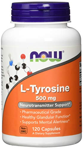NOW Supplements, L-Tyrosine 500 mg, 120 - Nutri Chewable Vitamins