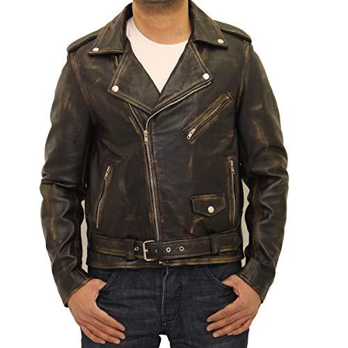 nag chaqueta mangas Am para genuino cuero idas de largas hombre te Brando Motocicleta e nCqwgBYn