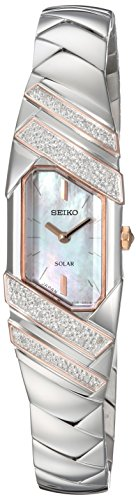 (Seiko Women's TRESSIA Japanese-Quartz Watch with Stainless-Steel Strap, Silver, 10 (Model:)