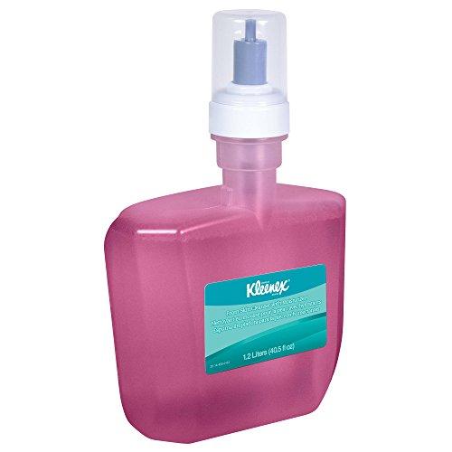Hand Cleanser Dispenser - Kleenex Liquid Hand Soap with Moisturizers (91592), Pink, Floral Scent, 1.2L E-Cassette, 2 Bottles/Case