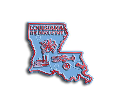 Louisiana State Map Magnet (State Shape Flexible Magnet)