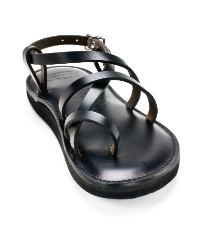 Piper Sandals Adult Original Style Black Leather 8