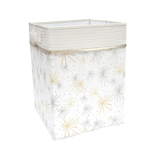 Lambs & Ivy Signature Moonbeams Star Storage Hamper, Gray/Gold by Lambs & Ivy