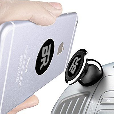 Magnetic Phone Car Mount, Magnetic Phone Mount,Phone Mount -Universal Magnetic 360 Degree Rotating Phone Mount By B&R Products Fits Any Phone,GPS,Light Tablet, NonTear Adhesive,no Damage - Best On Product To Fix Car Scratches