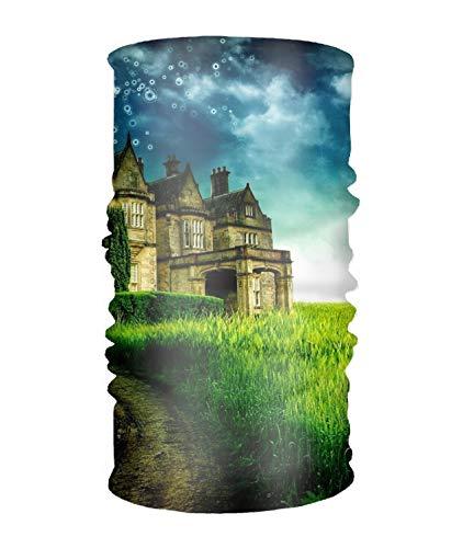 - Artistic Castles Landscape Grass Field Daisy Path Bubble Versatile Headwear Soft Head Wrap Scarf