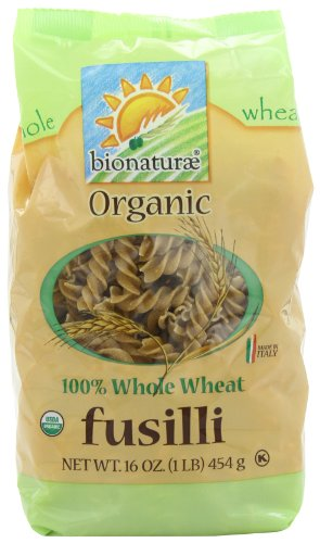 bionaturae Organic Whole Wheat Fusilli, 16-Ounce Bags (Pack of 6)