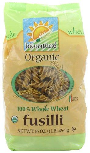bionaturae Organic Whole Wheat Fusilli, 16-Ounce Bags (Pack of 6) ()