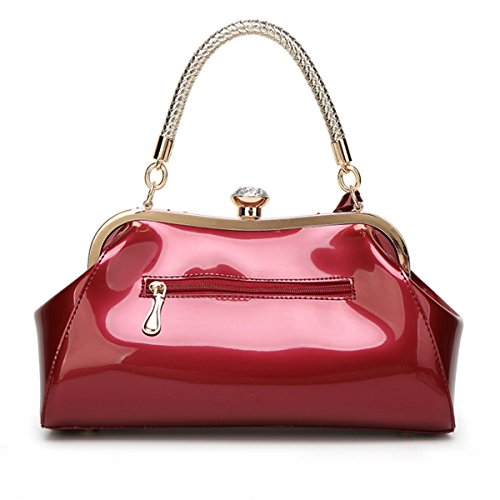 Wine with Wristlets Handbags Diamonds Shoulder Luxry Purses Set Party Red Ladies Leather Meliya Handle Patent Bags Tote Top 6ZaHA1yqPc