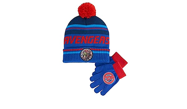 Boys 4-20 Avengers Hat /& Gloves Set
