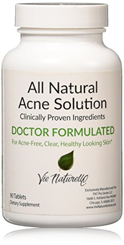 Vie Naturelle Acne Treatment Pills Supplement, 90 Tablets