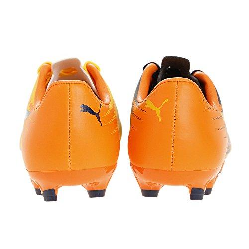 Puma Evospeed 17.5 AG Jr, Botas de Fútbol Unisex Niños Ultra yellow-Peacoat-Orange clown fish