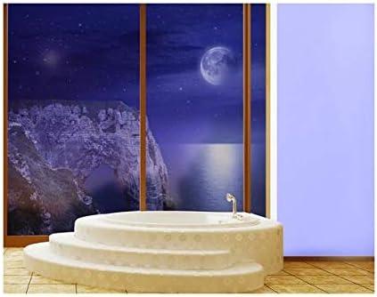 Apalis XXL Mural de Ventana Étretat In The Moonlight, Dimensione:380cm x 144cm: Amazon.es: Hogar