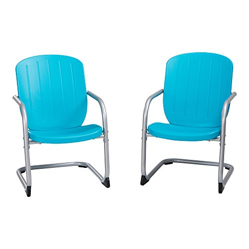 Lifetime 60161 Retro Chair, 2 Pack, Blue (Chair Patio Retro)