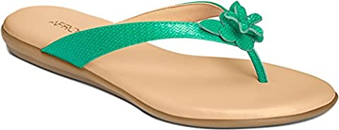 Aerosoles Womens Branchlet Flip Flop Turquoise Size 7 (Green Flip Flops)