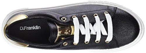D. Franklin Damen Gumme Metal Sneakers Schwarz (Black)