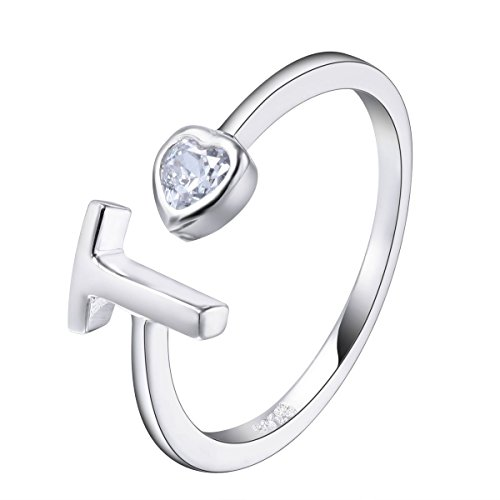 Sterling Silver Adjustable Initial Zirconia Personalized