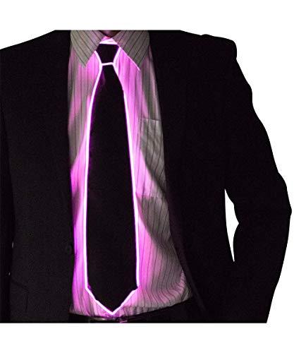 (Neon Nightlife Light Up Neck Tie for Men, Pink)