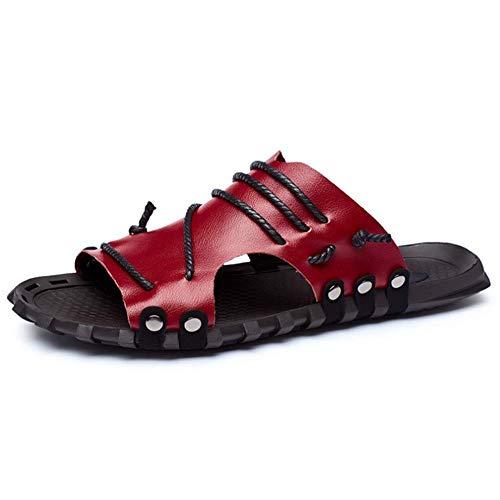 in scarpe uomo all' estate sportivi aperto Rosso da sport traspirante 42 bianco sandali Beach pelle antiscivolo Unbekannt FtOqIq