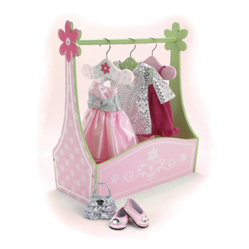 - Sophia's Doll Dress Rack and Set of Hangers, Hand Painted, 18-Inch