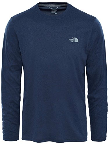 Urban À The Face Longues Heather Navy North Reaxion Homme shirt Manches Amp T T TTp0qxAr