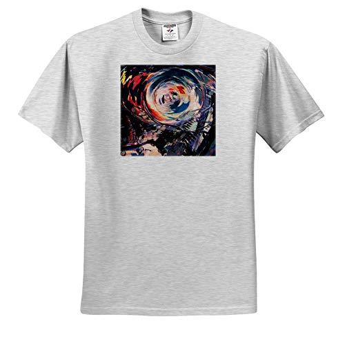 Perkins Designs - Potpourri - Abstract and Colorful Macro Digital Artwork of a Motorcycle Engine Block - T-Shirts - Adult Birch-Gray-T-Shirt Medium (ts_292645_19)