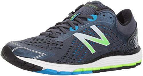 New Balance Men's 1260V7 Running Shoe, Grey/Black, 12.5 D US