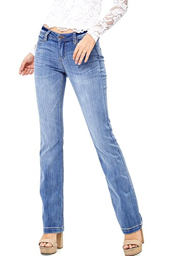 Top Celebrity Pink Women's Juniors Mid-Rise Casual Skinny Jeans free shipping