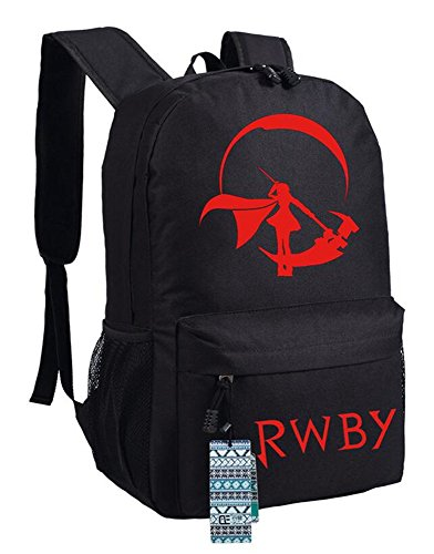 Ruby Oxford (Siawasey RWBY Ruby Rose Anime Cosplay Bookbag Backpack Shoulder Bag School Bag)