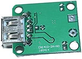 jiang DC 5V-20V to 5V 2A Max USB Charger Regulator for Solar Panel Fold Bag//Cell Panel//Phone Charging Power Supply Module Black