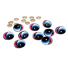 5 Pairs Plastic Safety Eyes Cartoon Moving Eyes for Bear Doll Puppet Crafts