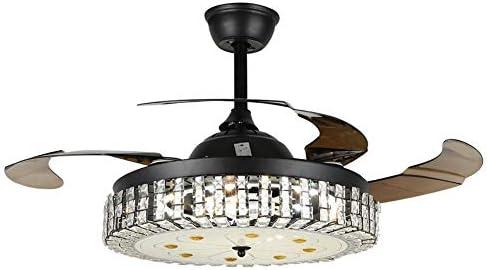 MoreChange 42″ Chandelier Ceiling Fan Light