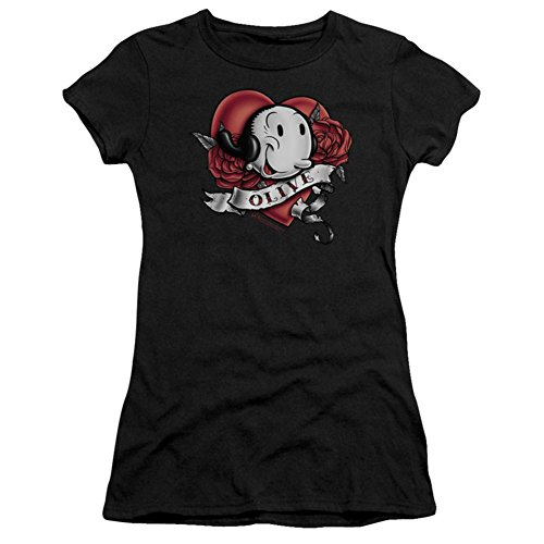 Juniors: Popeye-Olive Tattoo Juniors (Slim) T-Shirt Size XL