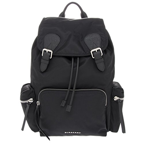 Burberry Unisex The Large Rucksack in Technical Nylon and Leather - For Burberry Man Bag