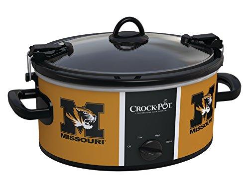 (Crock-pot SCCPNCAA600-MUT Missouri University Tigers Slow Cookers, White)