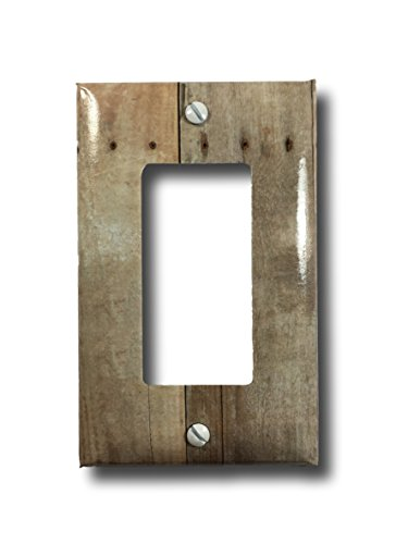 Barn Wood Design Rocker Light Switch or Outlet Wall Plate