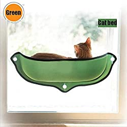 Vivian Inc 1 PC Bed Cat Hammock Bed Mount Window Hammock Bed Mount Sure Portable Comfortable Ideal Place for Cats (Green)