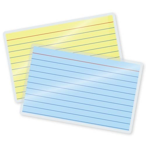 5 Mil File/Index Card Laminating Pouches 3-1/2