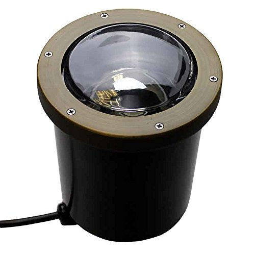 AQLighting Composite In Ground Well Light w/Open Face Cover, UL Certified Landscape 120V Uplight for Driveway, Deck, Step, Garden Lights Outdoor