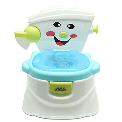 Creative Musical Baby Urinal Toilet Child Potty Training Baby Kid Learning Toilet Pull Cylinder Musical Sounder (Blue)