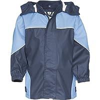 Playshoes Kids Waterproof Reflective Zippered Raincoat (116, Blue)