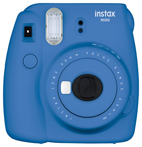 Fujifilm Instax Mini 9 Instant Camera - Cobalt Blue (Polaroid Instax 8 Purple)
