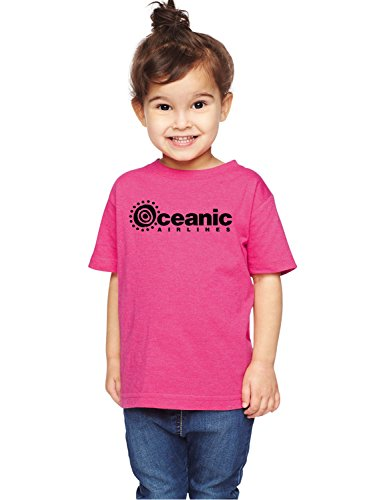 Brain Juice Tees Oceanic Airlines LOST Unisex Toddler Shirt (5/6T, Vintage Hot ()