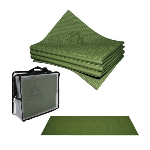 Khataland YoFoMat - Best Travel Yoga Mat - Green, Extra Long