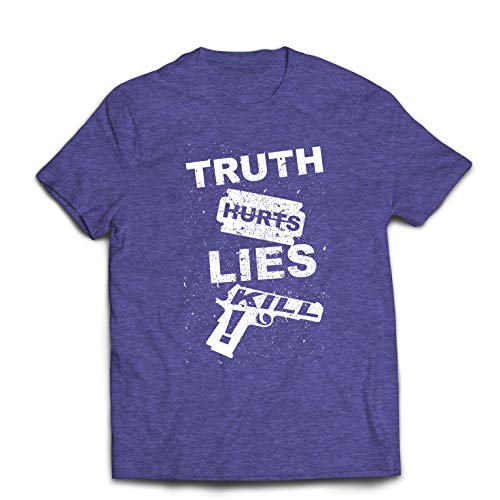 lepni.me Men's T-Shirt Truth Hurts Lies Kill !