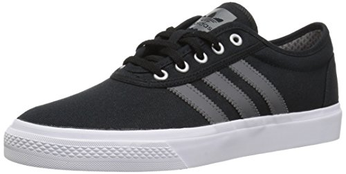 Shoe Skateboarding Boys (adidas Originals adi-Ease Skate Shoe, Black/Grey/White, 5 M US)