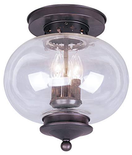 Livex Lighting 8475-57 Savannah 5 Light Venetian Patina Chandelier with Vintage carved Scavo Glass