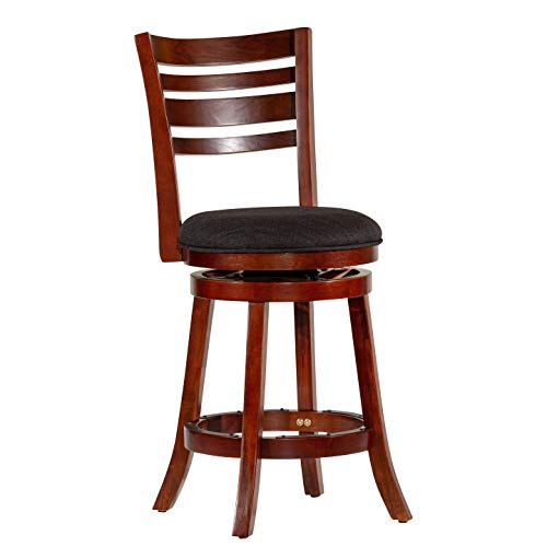 DTY Indoor Living Granby 4-Slat Back Upholstered Swivel Stool, 30 Bar Stool or 24 Counter Stool – Big Sale